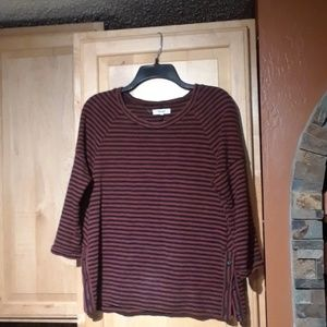 Madewell Multicolor Striped 3/4 Sleeve Top